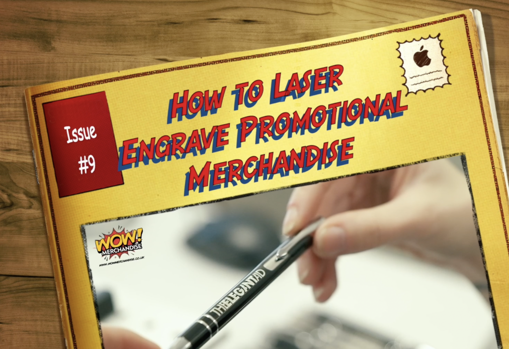 How to laser engrave promotional merchandise